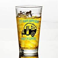 Vaso de cristal «It's Always Happy Hour» para agua