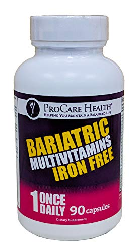 ProCare Health Iron Free Bariatric Multivitamin Capsule 90ct (3 Month Supply)