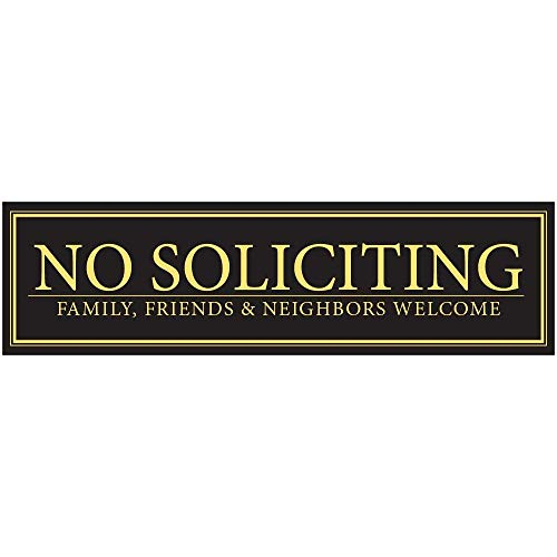 (No Soliciting - Family, Friends, Neighbors Welcome Door Magnet - The Perfect