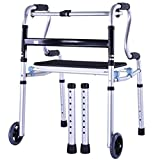 Frame walker Height adjustable Folding Walker Aluminum Alloy Pulley Elderly People Disabled Person Walking Rehabilitation Equipment Bathroom Bath Chair