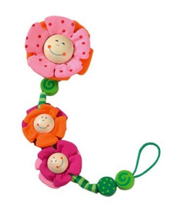 Haba USA 1047 Blossoms Pacifier Chain - Pack of 8 by HABA