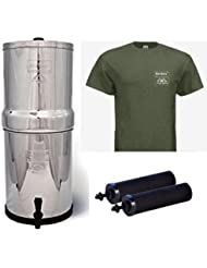 Royal Berkey Stainless Steel Water Filtration System W Berkey Green T Shirt And 2 Black Filters X Large