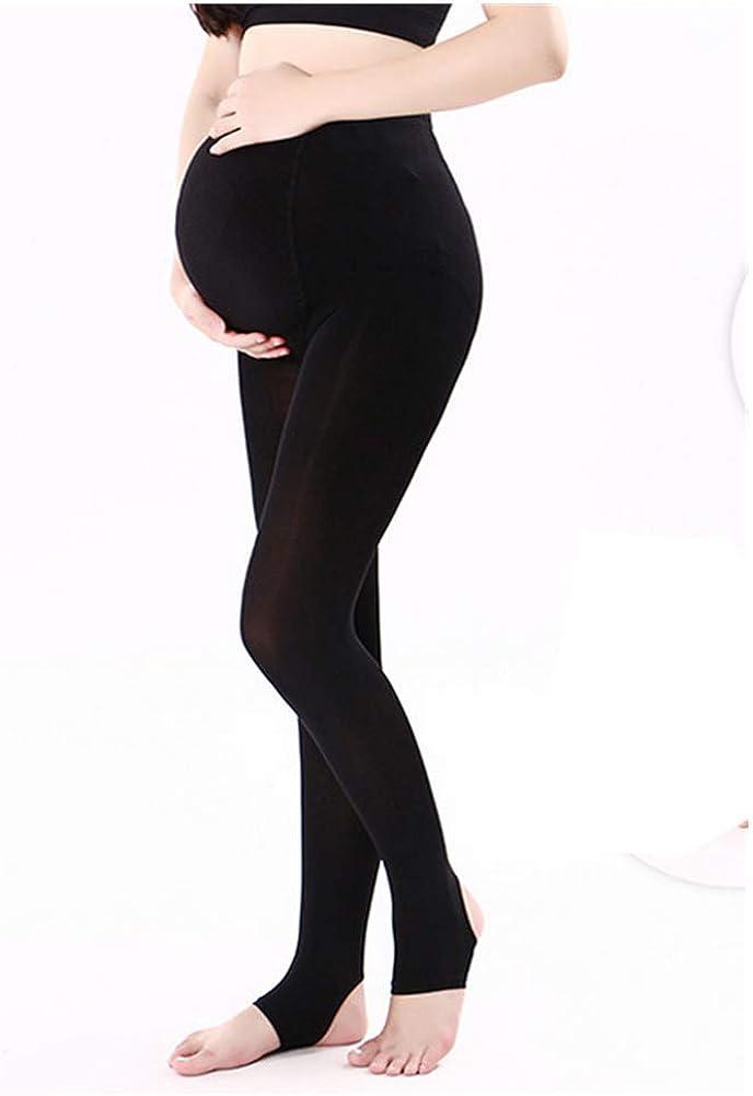 ZUMIY Collants de Maternité Legging Opaque, Collants Maternité Opaques de Grossesse pour Femmes Enceintes de 320D Bande Ajustable à la Taille