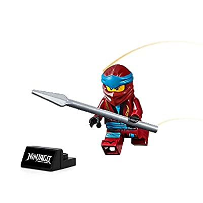 LEGO Ninjago Minifigure - NYA Legacy (with Spear and Display Stand): Toys & Games