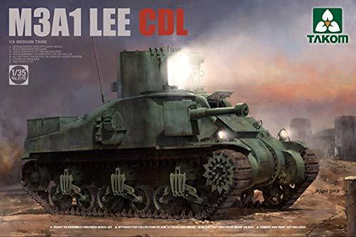 Takom 2115 US Medium Tank M3A1 Lee CDL 1:35 Scale Plastic Model Kit ()