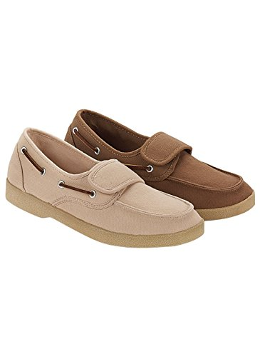 Carol Wright Gifts Mens Canvas Shoe Brown