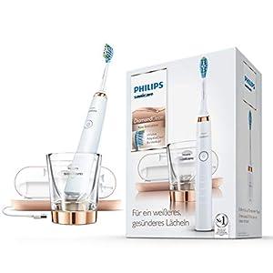 Philips Sonicare DiamondClean Or Rose HX9396/89 Brosse à dents électrique + verre de charge + coffret de voyage USB