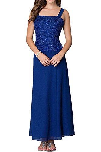 Zwei Wadenlang Spitze Braut Abiballkleider Damen mia Promkleider La Royal Brautmutterkleider Blau Traeger Abendkleider xTqt5v
