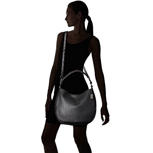 Dark Willow Black COACH Nomad in Nickel Hobo in Floral 55543 CwxAxtTYq