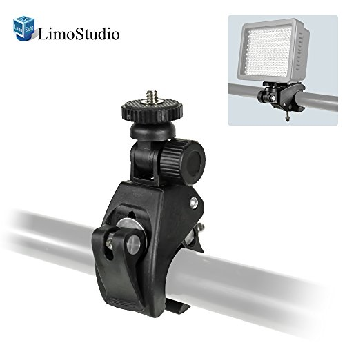 LimoStudio Action Camera Mount, TILT Mount Clamp Clip Bracket for Stand Cross Bar, Photo Video Studio, AGG1874 by LimoStudio