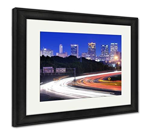 (Ashley Framed Prints Birmingham, Alabama Skyline, Wall Art Home Decoration, Color, 34x40 (Frame Size), Black Frame, AG32675477)