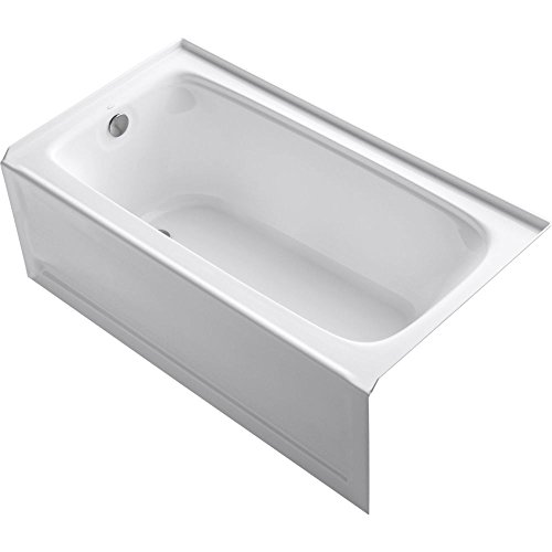 KOHLER K-1150-LA-0 Bancroft 5-Foot Bath with Left-Hand Drain, White