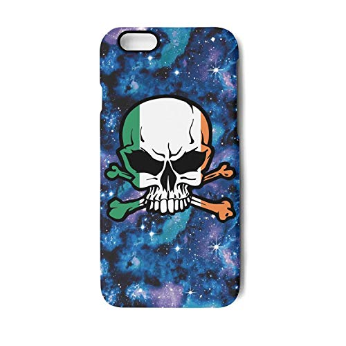 Vekq iPhone 7/8 Case Irish Skull and Bones Shock Absorption Soft TPU Protective Back Cover Compatible with IPhone 7/8