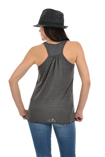 mangas 3elfen sin espalda verano camisa mangas sin para el blusa impresi camiseta mujer qwqRzAx
