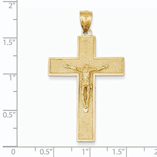 Sablé 14 Carats Pendentif Croix Crucifix-JewelryWeb latine
