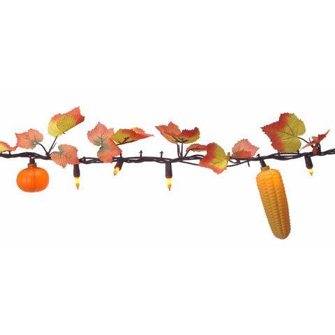 Bulk Buy: Darice DIY Crafts Maple Leaf Garland with Pumpkins and Corn 50 Lights (6-Pack) 6202-99