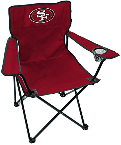 Rawlings NFL San Francisco 49Ers Unisex LP0055NFL Game Day Elite Chair, Red, Adult