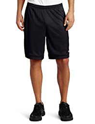 Champion Men\'s Long Mesh Short With Pockets,Black,LARGE