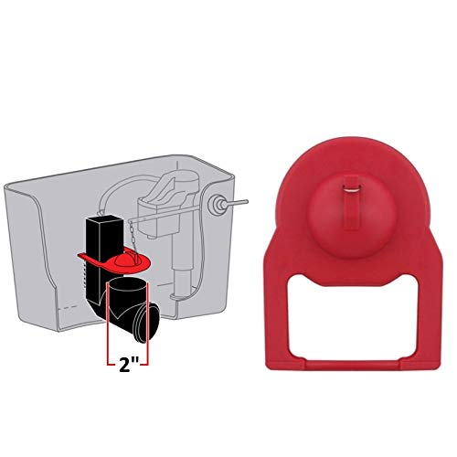 1onehelper Toilet Flapper New 2 inch replacement Toilet Flapper used in various 1 piece toilets
