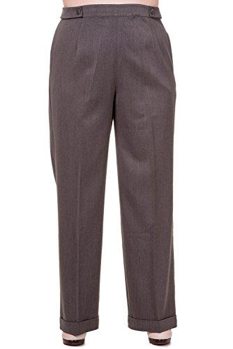 Pantalones talla grande tipo chinos de Banned modelo Party On (Gris) Gris