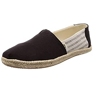 TOMS Women's Black Ivy League Stripes Women's Espadrilles 10013470 (Size: 6.5)