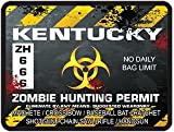 Interior Wall Design Kentucky Zombie Hunting Permit Decal Danger Zone Style
