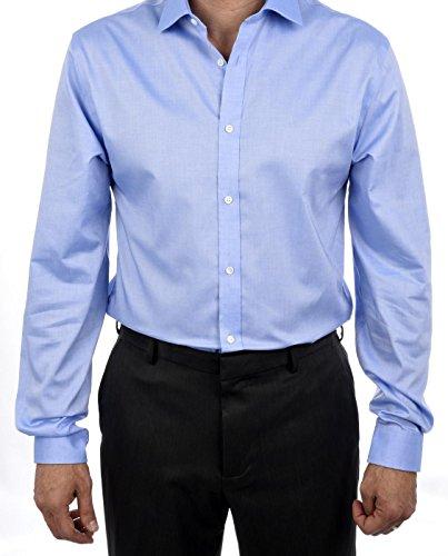 Tommy Hilfiger 100 % Cotton LS Slim Fit Non Iron Men's Dress Shirt Blue -16 .5 32/33