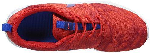 Nike Men's Rosherun Print, CHALLENGE RED/DEEP ROYAL BLUE-HYPER COBALT, 9.5 M US