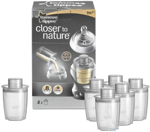 Tommee Tippee Closer to Nature Baby Milk Powder Dispensers 6 Pack Brand New Best Quality Original From United Kingdom Fast Shipping (Milk Nature Powder)