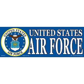 US Military Armed Forces Bumper Sticker - USAF Air Force - United States Air Force Crest/Seal