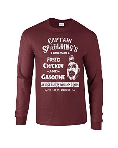 Swaffy Tees 560 Captain Spaulding Funny Adult Long Sleeve T Shirt Maroon