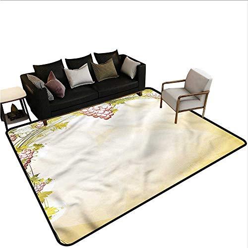 (Vineyard,Anti-Slip Cooking Kitchen Carpets 64