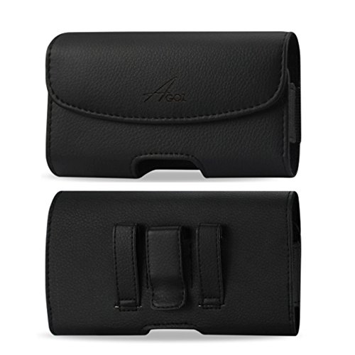 4g Case Pouch - For Samsung Galaxy J3 Sky 4G LTE SM-S320, Galaxy J3 Luna Pro S327VL, Premium Leather AGOZ Pouch Case Holster with Belt Clip & Belt Loops
