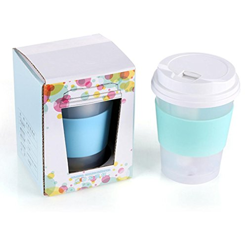 Coerni 300ml Cute Milk Cups USB LED Glowing Humidifier Essential Oil Diffuser for Car, Office, Home (Green) by Coerni (Image #3)