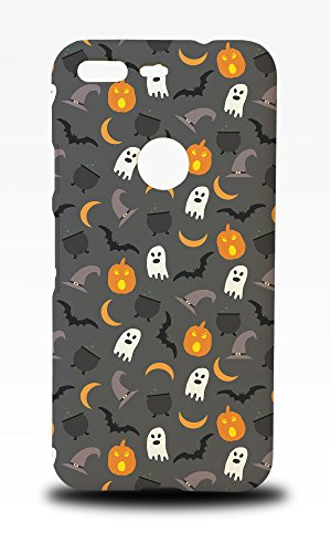 Foxercase Designs Halloween Pumpkin Ghosts Pattern Phone Case Cover for Google Pixel (5-Inch)
