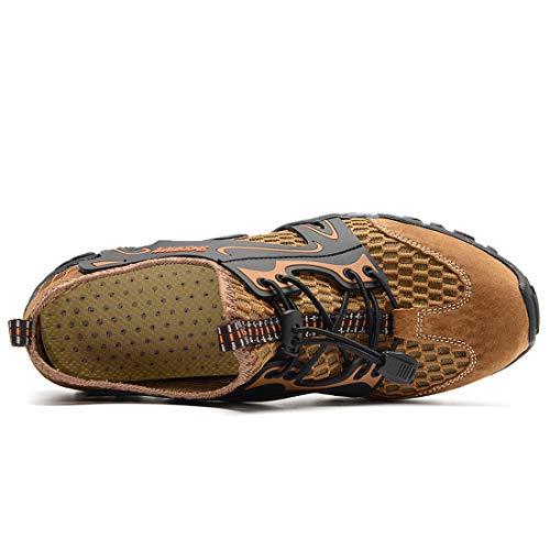 Ad Sneakers Rapida Marrone Sneakers,scarpe Casual Uomo Spiaggia,esterni Scarpe Donna Antiscivolo Rete Guadare A scarpe Traspirante Asciugatura Sandali Monte Trekking Da Mesh ZZvEwBqT