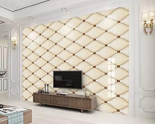 3D Wallpaper - Simple Gold Geometric Diamond Mosaic Modern 3D - Removable Wall Mural | Self-Adhesive Large Wallpaper,200X140CM ()