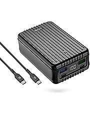 Zendure SuperTank Powerbank med 27 000 mAh (kross säker, 4-portars snabbladdning 3.0, 100 W strömförsörjning för iPhone, MacBook, iPad, Android, Nintendo Switch, USB, USB-C, handbagage passar), svart