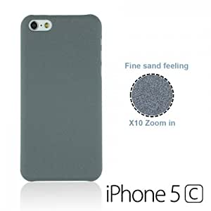OnlineBestDigital - Frosted Surface Hard Back Plastic Case for Apple iPhone 5C - Grey with 3 Screen Protectors and Stylus