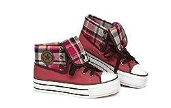 Women S Casual Lace Canvas Sneakers Platform Hidden Heels Sporty Shoes Pink Add Wool 38 6 5 B M Us Women