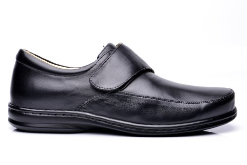Opananken Mens Super Care Lorenzo Sheep Leather Slip-on Zwart