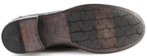 MOMA Scarpe Uomo 20801-4A Bandolero Nero Pelle Vintage Made in Italy Nuove