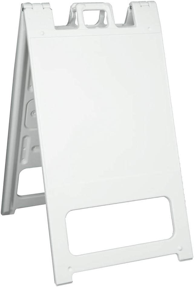 Plasticade Squarecade 36 Portable Folding A-Frame Sidewalk Sign White