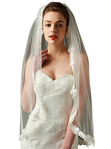 LynnBridal Wedding Fingertip Length Ivory product image