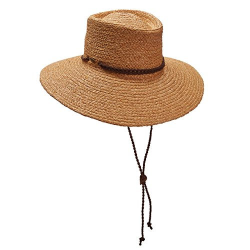 Braid Organic Raffia Aussie HAT Suede 4-1/2 Brim Chin Cord LR686