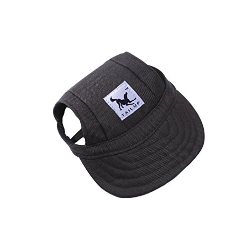 Cotton Dog Visor - BUYITNOW Large Dog Hat, Pet Baseball Cap/Dogs Sport Hat/Visor Cap with Ear Holes and Chin Strap for Dogs 3 Sizes, 11 Colors