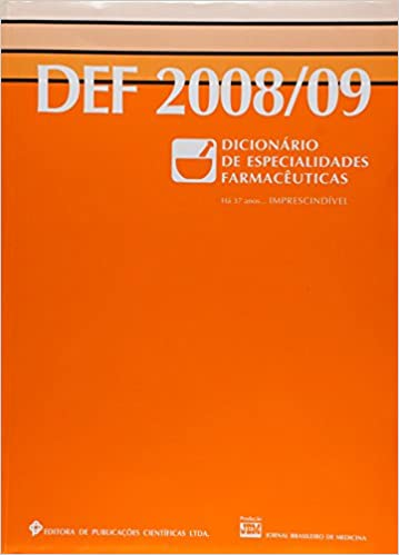 Def - Dicionario De Especialidades Farmaceuticas 2008/09: 9788575730454: Amazon.com: Books