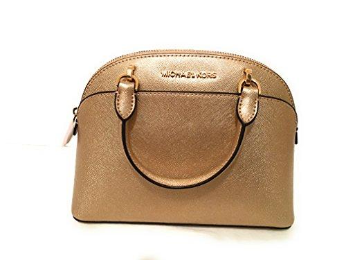 MICHAEL Michael Kors EMMY Women's Shoulder Handbag SMALL DOME SATCHEL (Pale Gold)