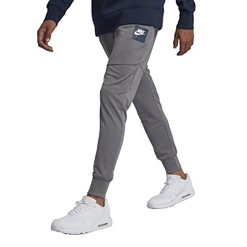 fff102b4cec7 NIKE Mens Air Pack Track Jogger Pants Gunsmoke Grey White 918326-036 Size  Small
