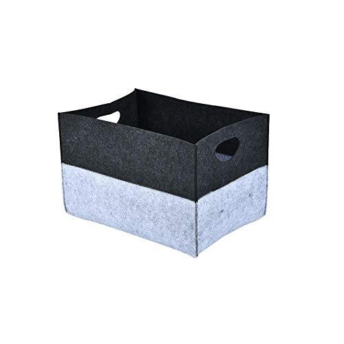 MOPOLIS Foldable Storage Bin Closet Toy Box Container Organizer Felt Fabric Basket Cube (Color - Gray)